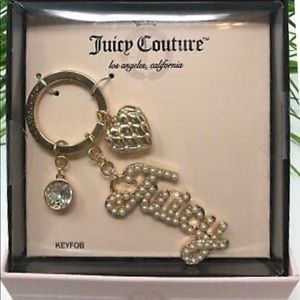 Juicy Couture Pearl Keyfob NWT